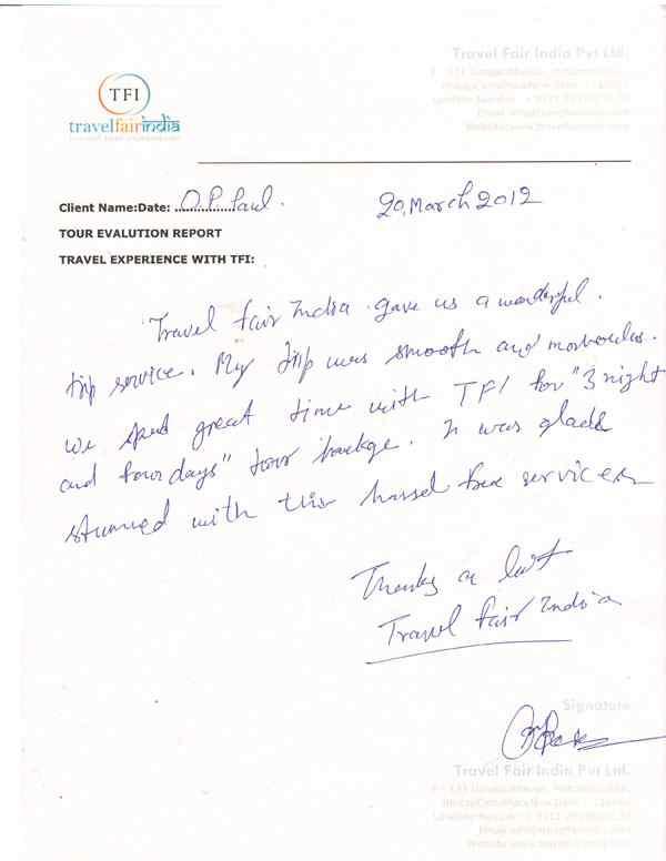 Travel Fair India Op Paul